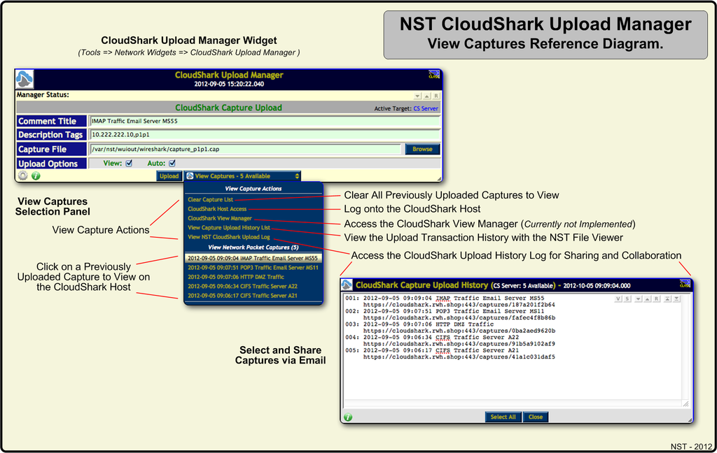 NST CloudShark View Captures Reference Diagram