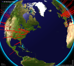 NST Wiki Site Global Traffic (Day Time Map)