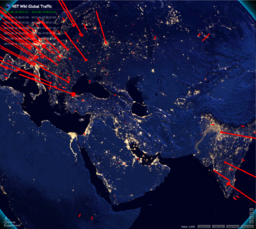 NST Wiki Site Global Traffic (Night Time Map)