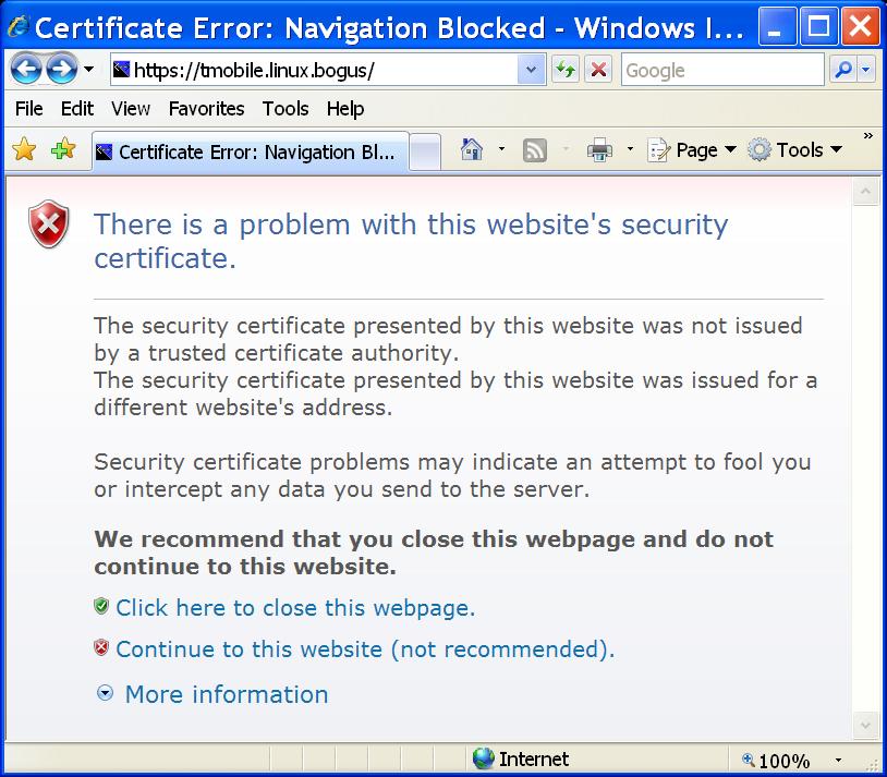 faqs certificate errors
