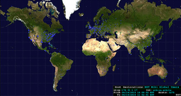 NST Wiki Site World Map: Global Users Host Geolocations